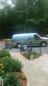 Scenic Valley Lawn Care Preparing to treat a lawn